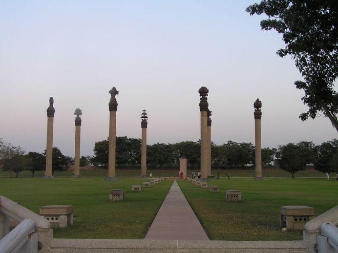 Rajiv Gandhi Denkmal In Chennai Irène In Indien