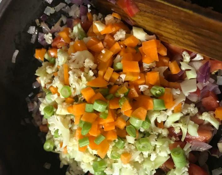 Gemüse beigeben