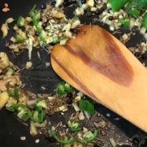 pongal ingwer und grüne chilli