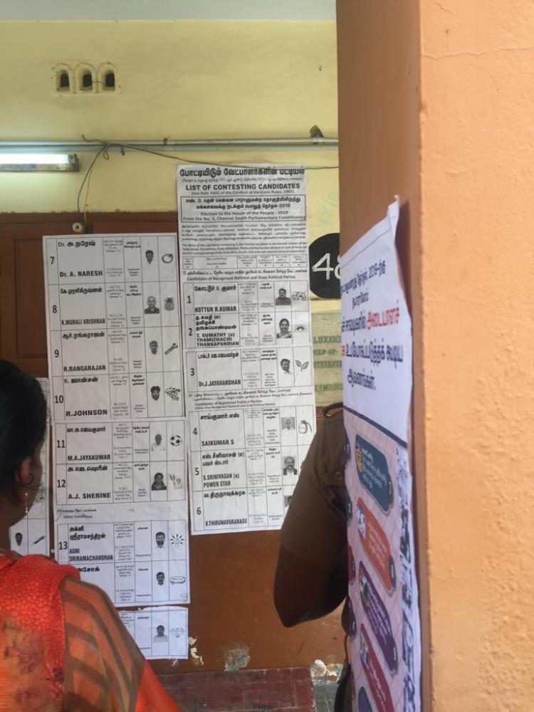 Wahllisten der Kandidaten